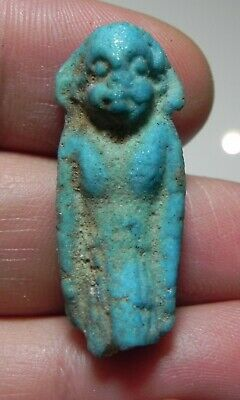 Zurqieh -As12389- Ancient Egypt,  Faience Upper Part Of An Overseer 600  B.c