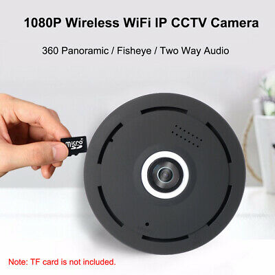 360° Panoramic Mini 1080P Wifi IP CCTV Camera Fisheye Night Vision Home Security