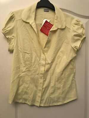 Oasis Lemon Blouse Brand New With Tags Size 14 Summer Holidays