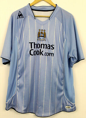 Manchester City MCFC home football shirt Le Coq Sportif Size XL Thomas Cook