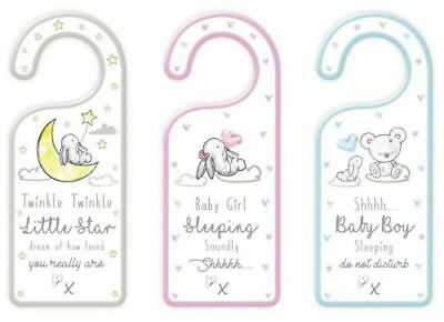 Baby Shower New Baby Boy Girl Neutral Gift MDF Decorative Door Hanger Plaque