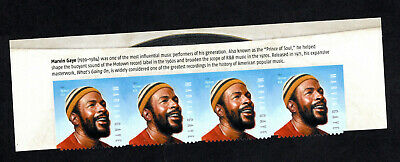 5371  Marvin Gaye Block of 4 with HEADER SWEET & Ready to MOUNT MNH