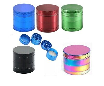 50MM Large Stainless Spice Tobacco Herb  Grinder with Pollen Catcher 4-Layer