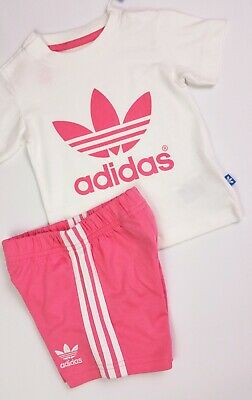 Baby Girls Clothes ADIDAS Originals Shorts & T-Shirt Outfit 9-12 Months Sample