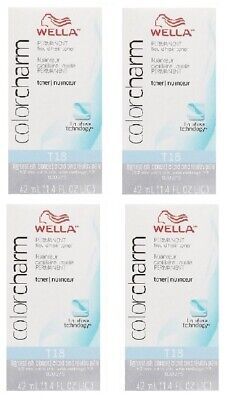 Wella-T18 Toner Lightest Ash Blonde (x4)