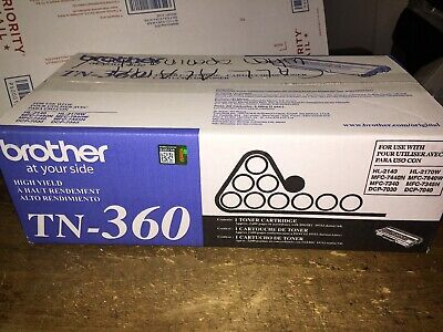 Genuine Sealed OEM Brother TN-360 (TN360) Black High Yield Toner; Exp:190211