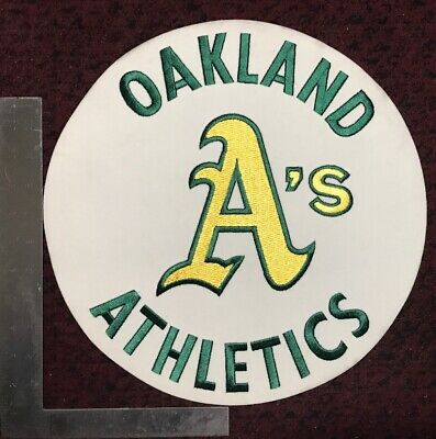 Oakland A's Athletics MLB Baseball Felt Patch Stomper Large 13.5""
