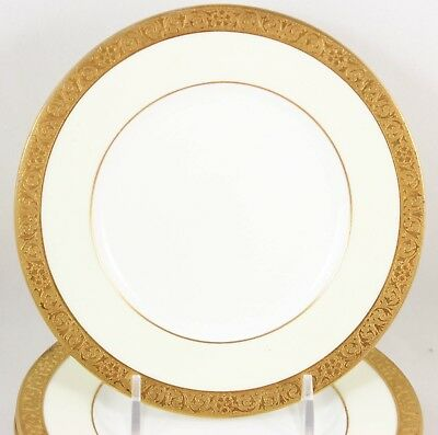 6 Bread Plates Raised Gold Encrusted Vintage Minton Bone China Westminster K154