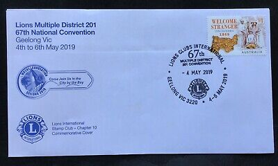 AUSTRALIA Lions Clubs Geelong OFFICIAL Convention FDC Dated 4 May 2019