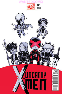 Uncanny X-Men #1 Skottie Young Baby Variant Cover Marvel Comic 2013 Magneto Emma