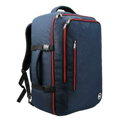 Cabin Max️ Malaga Carry On Luggage, Travel Bag-22x14x9-44 Navy/Red