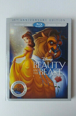 BEAUTY & THE BEAST BLU RAY- 25th Anniversary Edition-Walt Signature Collec.- NEW