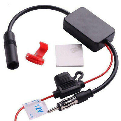Auto Car Antenna Radio Signal AMP Amplifier Booster Strengthen ANT-208 12V Black