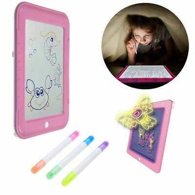 3D Magic Drawing Board Pad Glowing Puzzle Writing Painting Pad Doodle Kids Toy