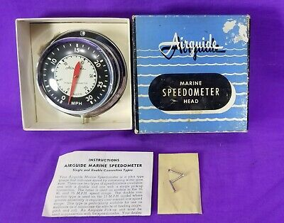 VINTAGE AIRGUIDE MODEL 701 Boat/Marine Sdometer Head 0-30 MPH ~ New on