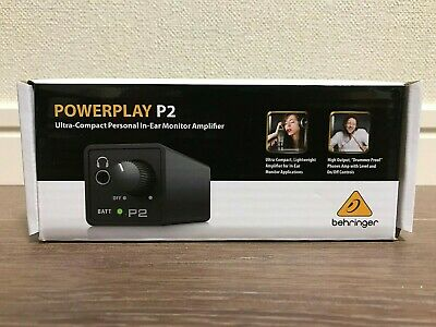 BEHRINGER POWERPLAY P2 Compact In Ear Monitor Amplifier Battery Powered NEW sh