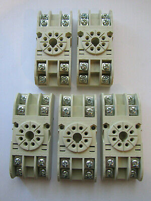 5 X Carlo Gavazzi Electromatic S408 Relay Socket 8 Pin Octal New Unused