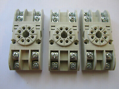 3 X Carlo Gavazzi Electromatic S408 Relay Socket 8 Pin Octal New Unused