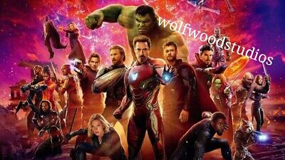 Popular New Marvel Movie Avengers End Game Character Art Poster Publicity Photo