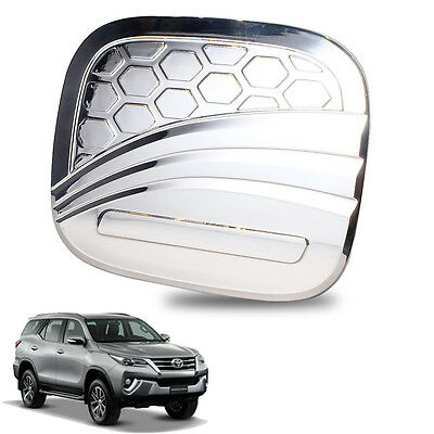 Fuel Tank Cap Cover Chrome Fuel Oil Fit 15 16 17 Toyota SUV