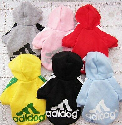 Adidog Dog Clothes Coat Small Mini Dogs Puppy Winter Jacket Sweater Hoodie Warm