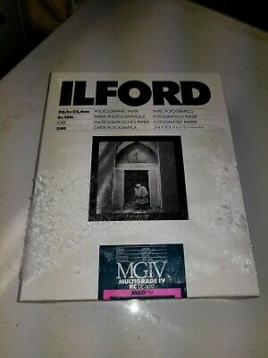 * Ilford Multigrade Photographic B&W Paper IV RC DeLuxe 8x10in 250 Sheets SEALED