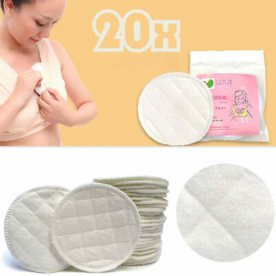 20x Bamboo Reusable Breast Pad Nursing WashableOrganic Plain Washable Pad A33X