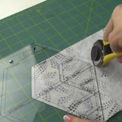 Diamond Shaped Acrylic Ruler Quilt Patchwork Template Quilting Sewing Tool A33X