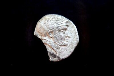 RARE ANCIENT BACTRIA INDO GREEK SOPHYTES SILVER DRACHM 3rd CENTURY BC