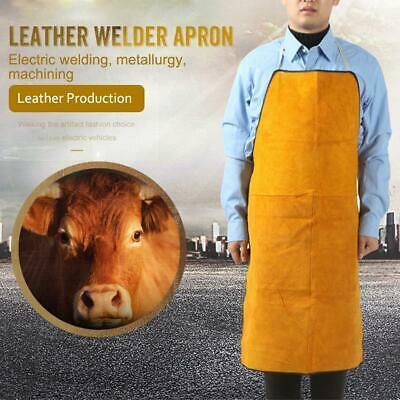 Protective Clothing Wear Leather Welder Apron Acid And Alkali Welding Apron
