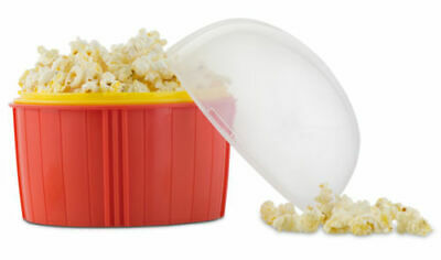 Microwave Popcorn Maker Quick Easy Healthy Cool Touch - Zap Chef Poppin' Corn