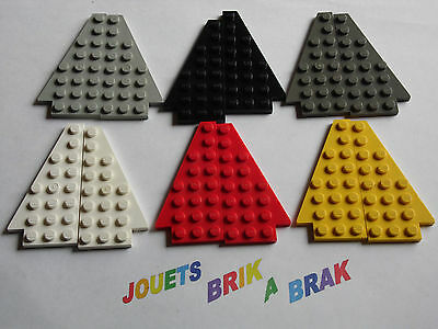 Lego ® 2x Plaques Ailes Noir Black Wedge Plate Wings 6x6 ref 6106