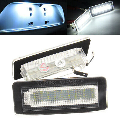 2x LED Number License Plate Light Kit For Smart Fortwo Coupe Convertible 450 451