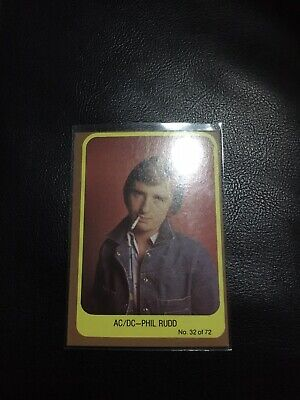 1977 Scanlens Popswops AC/DC #32 Trading Card Mint Condtion