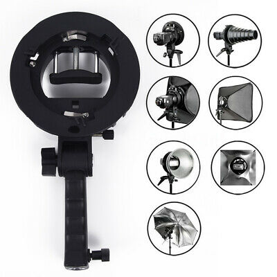 Best S-Type Bracket Bowens Mount Holder Fit Speedlite Flash Umbrella Speedlight
