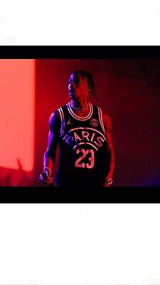 e1333c4efd9964 Nike Air Jordan X PSG Flight Knit 23 Jersey BQ4204-010 Travis Scott - XL