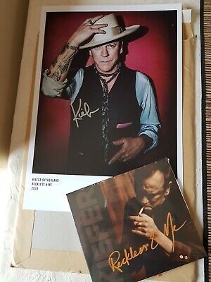 """Kiefer Sutherland """"Reckless & Me"""" - Sealed CD With Hand Signed Print"""