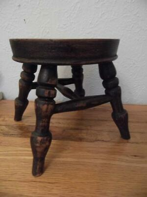 Cute Little Replica Antique Wooden Milking Stool Kitchen Display Teddies Dolls