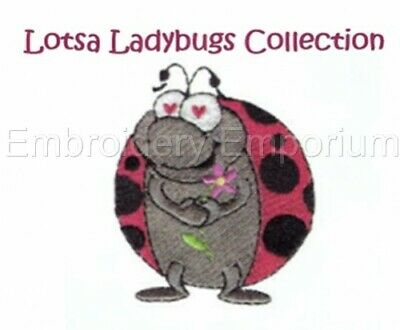 Lotsa Ladybugs Collection - Machine Embroidery Designs On Cd Or Usb
