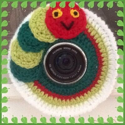 Camera Lens Buddy, Hungry Caterpillar Inspired! Handmade, Photo Prop