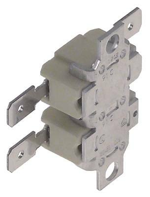 Contact Thermostat 2-pin 2nc 91°C Connection Flat Blade 6,3mm Hole Distance