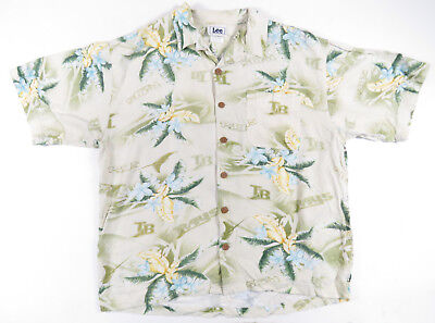 Tampa Bay Devil Rays MLB Lee Sport Mens Floral Hawaiian Short Sleeve Shirt M