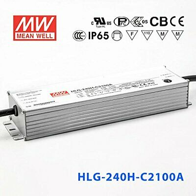Meanwell HLG-240H-C2100A Power Supply - LED Driver - 250W 2100mA - IP65