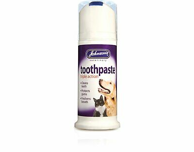 Johnsons Triple Action Toothpaste for Dogs & Cats Bad Breath Tartar Stains 50g