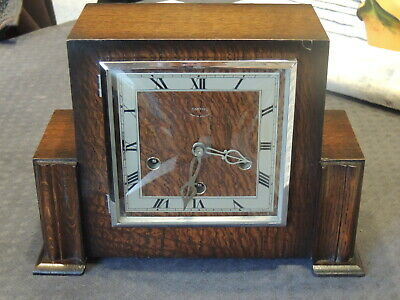 English Clock 1930 Pendule Smith 4 Marteaux 4 Tiges Caisson Bois