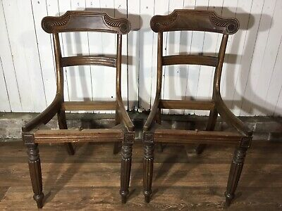 Pair Of Antique Georgian Dining Chairs Frame Only Upholstery Project