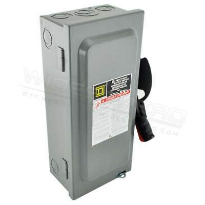 HU363 Square D 600V 100A E HU Disconnect Switches 3PH 3P 3 Wire Single Style