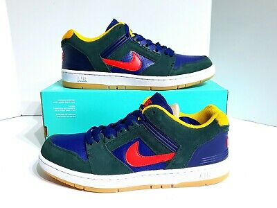 Details about Nike SB Air Force II 2 Low Dark Green Red Navy Blue AO0300 364 Men's 8.5 9