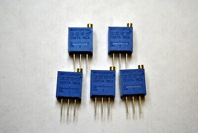 5Pc Bourns 100R Multi Turn Potentiometer Trimmer 3296-1-101Lf Top Adjust In Line