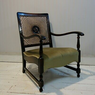 Victorian Cane Back Fireside Chair